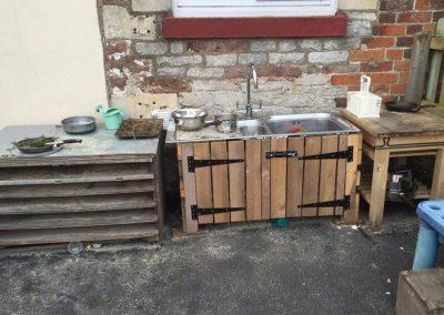 Kitchen area in playground